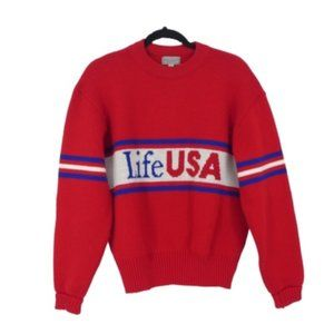 Vintage Wear-a-Knit Live USA Pullover Sweater